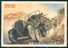 Militari 12º Centro Automobilistico Palermo Boccasile FG cartolina XF7287