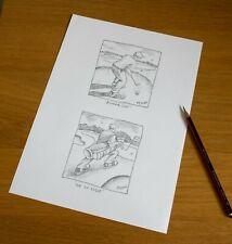 """Graham McKean original pencil drawings titled """"Bunkered"""""""