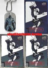 Moon Knight Dog Tag + 2 Base Cards & 1 Foil Card - Upper Deck Marvel Dossier