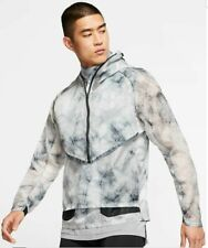 Nike Tech Pack Hooded Running Jacket Mens Grey Active Wear BV5679-094 Size M