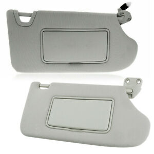 2x Left + Right Sun Visor Shade Lighted Mirror Fit For Nissan Altima 2013-18