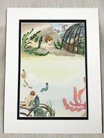 Originale per Bambini Libro Opera D'Arte Illustrazione The Acqua Aragosta Pesce