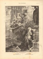 1873 ANTIQUE PRINT- ART - MARGARET BEFORE IMAGE OF MATER DOLOROSA - FAUST