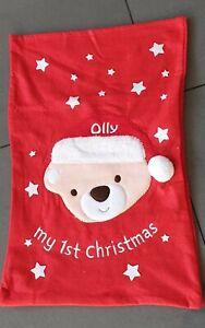 Personalised Embroidered Large 1st Christmas Xmas Santa Sack Stocking