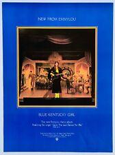 EMMYLOU HARRIS 1979 original POSTER ADVERT BLUE KENTUCKY GIRL