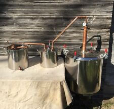 17 Gallon Copper Whiskey Moonshine Liquor Still two free RECIPES!
