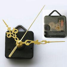 1 Set Repair Parts Wall Clock Quartz Movement  Mechanism Gold Hands DIY Spindle