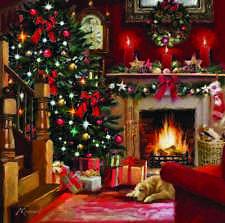 Charity Christmas Cards FESTIVE FIRESIDE Helen & Douglas House Boxed Packs of 10