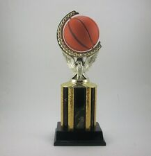 Basketball trophy with spinning ball . Free engraving.