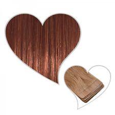 10 Tape Extensions Mahogany Brown #33 60 cm PREMIUM REAL HAIR SKIN WEFT TRESSES