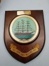 Tall Ship Race Milford 1991 Pembroke Docks Shield plaque Nautical