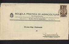 PUBLICITAIRE ÉCOLE DE AGRICULTURE CALTAGIRONE PHRASE DE MUSSOLINI 1935 (026)