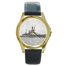 HMS HOOD WW2 BATTLESHIP ROUND WRISTWATCH **SUPER ITEM**