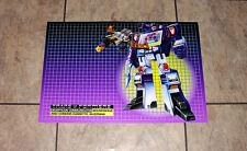 "Transformers G1 Soundwave & Buzzsaw 24"" box art poster art print decepticons 80s"