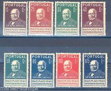 PORTUGAL ROWLAND HILL SCOTT#595/602   MINT ORIGINAL GUM NEVER  HINGED