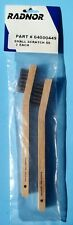 """Radnor 64000449 Wood Handle .006"""" SS Inspection Brush 3 X 7 Rows 2pk QTY 4"""