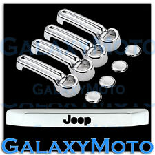 Chrome 4 Door Handle+Tailgate Liftgate Molding Trim Cover for 08-12 JEEP LIBERTY