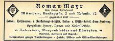 Roman Mayr München UNTERRÖCKE MORGENKLEIDER HÄUBCHEN Historische Reklame v. 1900