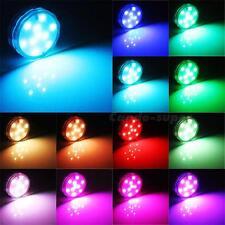 10 LED Multi Color Submersible Waterproof Wedding Party Vase Base Light Remote