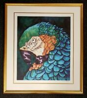 Rare DANIEL JEAN-BAPTISTE Parrot Bird (Unknown Title) NUMBERED SIGNED LITHOGRAPH