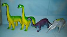 Vintage Imperial 1985-1989 Lot of 4 Dinosaur Brontosairis Brachiosaurus Mammoth