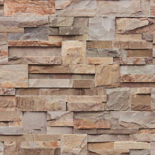 Fond d'écran Muriva - luxe réaliste ardoise bardage - Pierre / brun - J27408