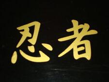 2 NINJA KANGI 100mm GOLD  MOTORBIKE STICKERS IOM TT CAFERACER YAMAHA   KAWASAKI