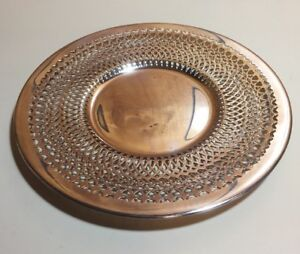 """Antique Benedict Reticulated 668 Round Silverplate Serving Plate 10"""""""