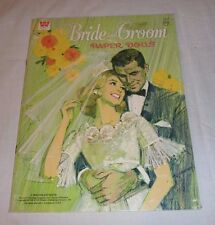 Vintage BRIDE and GROOM Paper Dolls 1968 Whitman Uncut