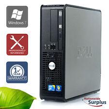 Dell Optiplex 380 SFF Core 2 Duo E8400 3.0GHz 8GB 500GB Win 7 Pro 1 Yr Wty
