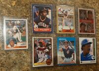 (7) Julio Franco 1983 Topps Traded Donruss Rookie 1986 1987 Fleer Card Lot RC