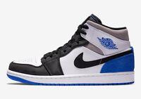 Nike Air Jordan 1 Mid SE White Black Royal Sizes 4Y-7Y BQ6931 102 Youth Union