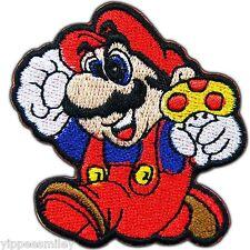 Super Mario Running Mushroom Cartoon Video Game Kid Children Iron on Patch #0005
