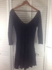 Free People Halloween Costume/Dress Size S Black Lace Boho Long Sleeve Fitted