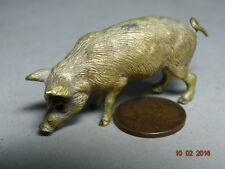Fine Miniature BRONZE PIG marked GESCHUTZT Vienna Austria ART NOUVEAU