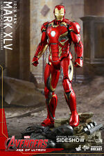 "HOT TOYS Avengers Age Ultron IRON MAN MARK XLV DIECAST 12"" 1/6 Scale Figure"