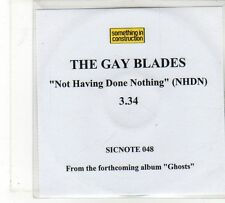 (FU862) The Gay Blades, Not Having Done Nothing - 2009 DJ CD