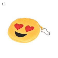 Emoji Smile Coin Bag Small Wallet Women Girl Soft Plush Purse Bag Handbag 3c Le