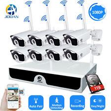 JOOAN 8CH Outdoor Wireless Security Camera System CCTV 1080P IP WiFi Webcam 1TB