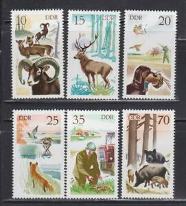 DDR114 - EAST GERMANY DDR 1977 HUNTING WILD ANIMALS MNH