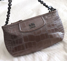 NWT COACH Madison Exotic Embossed Croc Leather WRISTLET/CLUTCH Bronze NEW $148