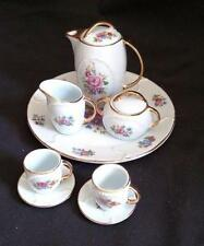 Miniature Rose Floral Tea Set Porcelain Retired Child's Ranger Gift