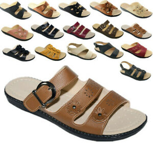 New Women Sandals Shoes Gladiator Slip On Fashion Slide Shoes Size 5 - 10