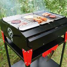 BBQ Table With Modular Grill Top Barbecue Camping Home Outdoor Garden Party Fire