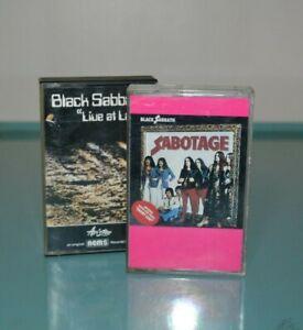 "Vtg.Black Sabbath Cassettes ""Live at Last""  Nems Italian Import "" Sabotage"""
