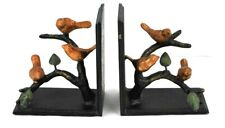 Gilded Sparrow Bird  Set of Two Bookends by SPI Cast Iron Sweet Design