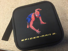 NEW * SPIDERMAN * Large Black CD DVD GAME Carry CASE HOLDER for 32 Discs