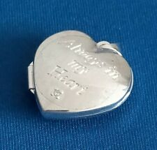 925 STERLING SILVER & 9 CT GOLD LOCKET PENDANT HEART SHAPED 3 G