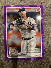 2020 Bowman Purple Parallel #74 Gleyber Torres 192/250 Yankees