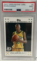 2007 Topps 50th Anniversary #2 Kevin Durant RC Rookie Card Mint PSA 9 MINT